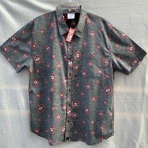 MARVEL Deadpool Toss pattern Short sleeve Shirt